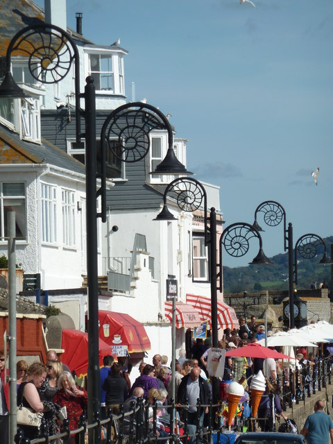 A busy day in Lyme Regis
