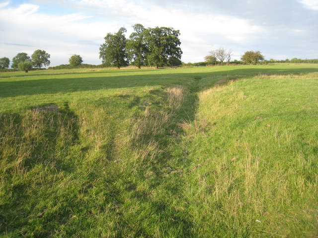 Trench in the sheep pasture by Asgarby church