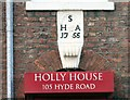 SJ9392 : Holly House date stone: 1755 by Gerald England