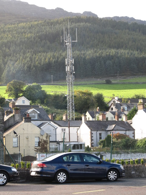 The Garda transmission mast at Carlingford
