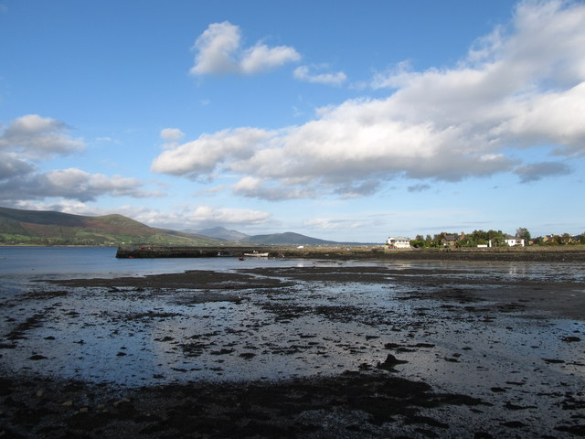 The southern breakwater at Carlingford Harbour