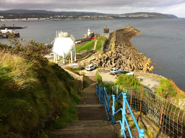 Steps down to the harbour