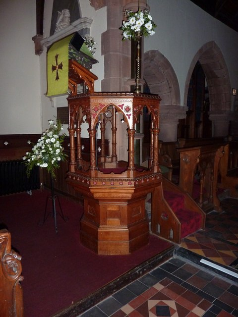 St Paul's Church, Irton, Pulpit