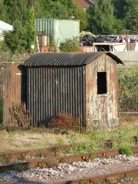 Tin shed by the railway