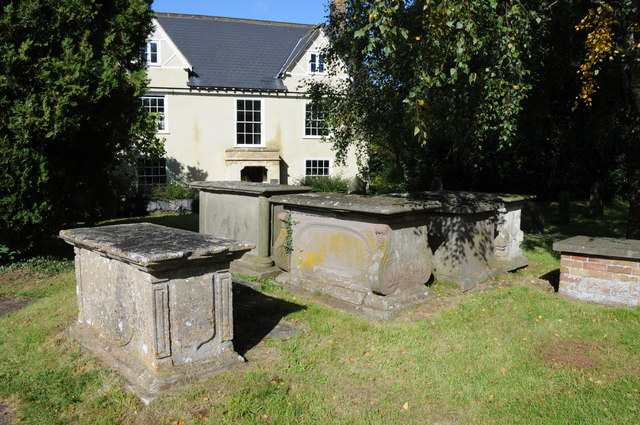 Chest tombs, Stone churchyard
