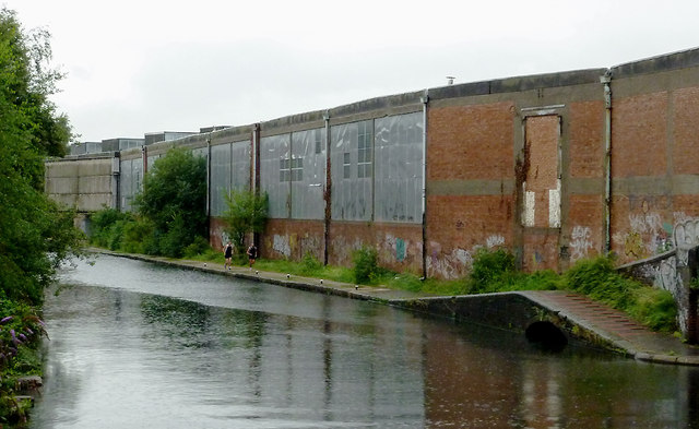 Canal and disused factory at  Bordesley Junction, Birmingham