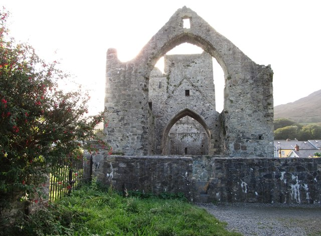 The great east window of Carlingford Priory