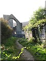 J1911 : Footpath at the rear of Carlingford Priory by Eric Jones