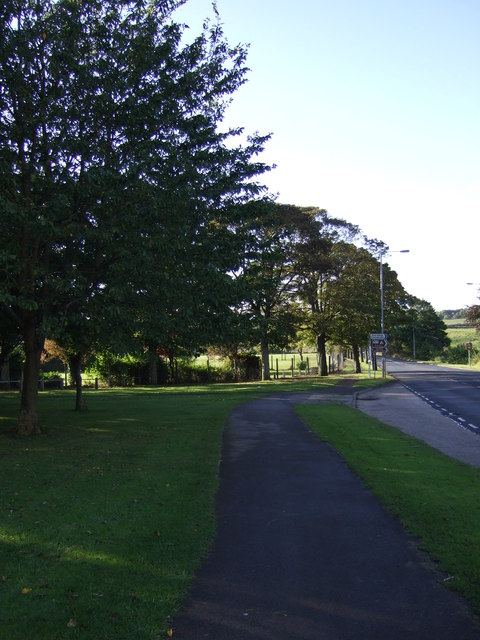 Path beside the A165