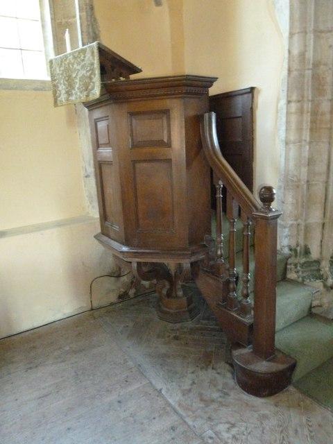 Sydling St Nicholas: pulpit