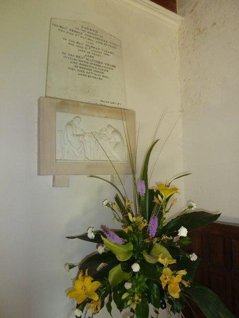Holy Trinity, Godmanstone: memorial (d)