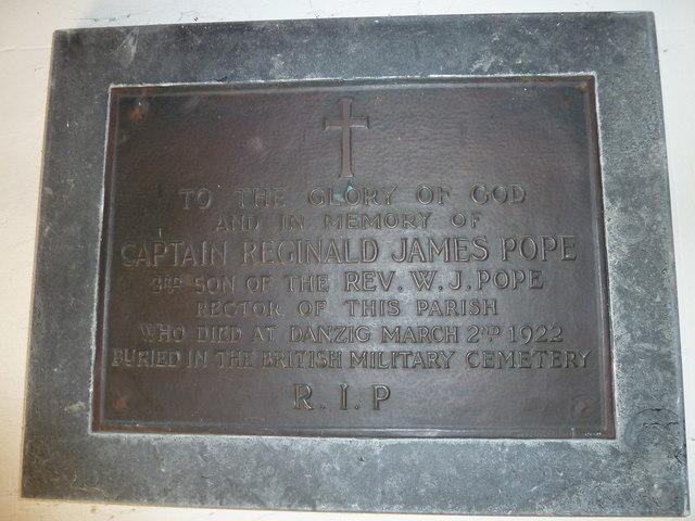 Holy Trinity, Godmanstone: memorial (g)