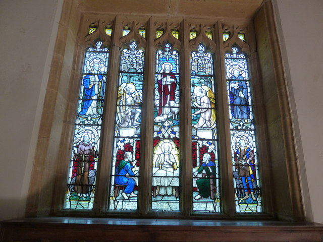 Holy Trinity, Godmanstone: stained glass window (C)