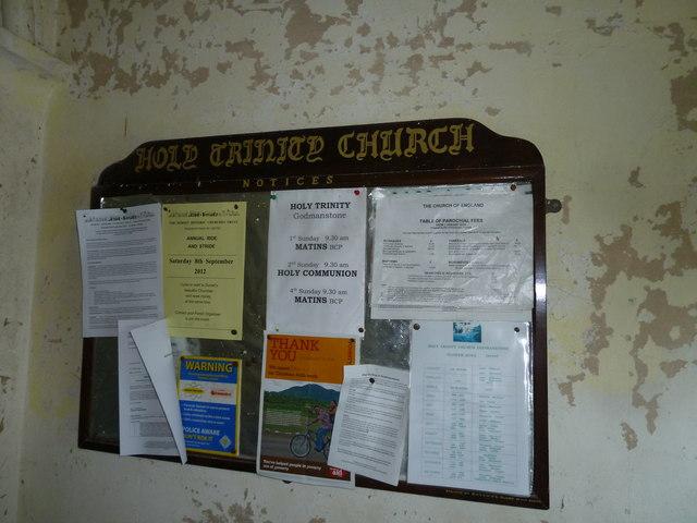 Inside Holy Trinity, Godmanstone (i)