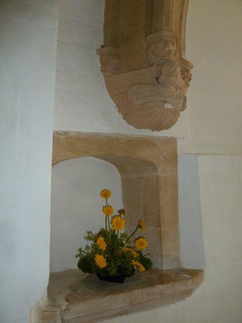 Inside Holy Trinity, Godmanstone (v)