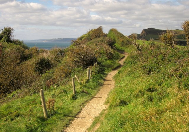 Coast path on West Cliff