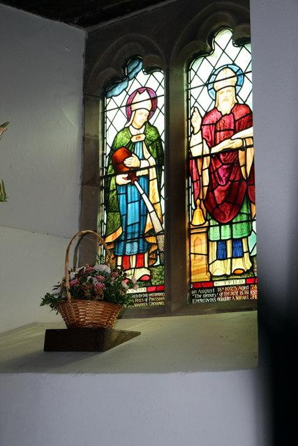 Interior of St Cewydd's Church, Aberedw, Powys
