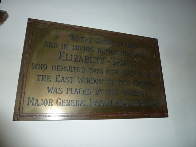 St James, Holt: brass memorial