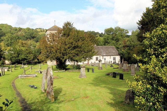 St Cewydd's Church and churchyard, Aberedw, Powys