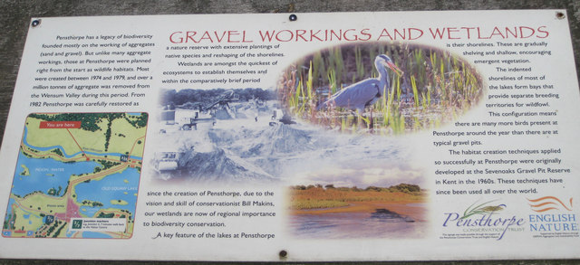 Information about the gravel workings, Pensthorpe