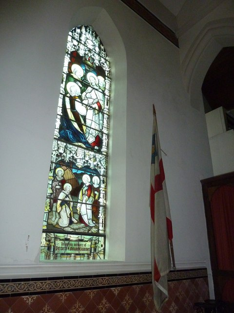St James, Holt: stained glass window (1)