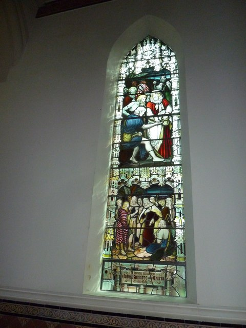 St James, Holt: stained glass window (2)