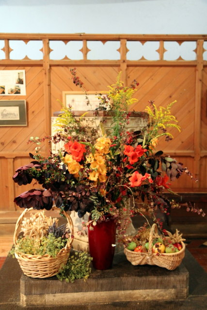 Harvest Festival Display, St Cewydd's Church, Aberedw, Powys