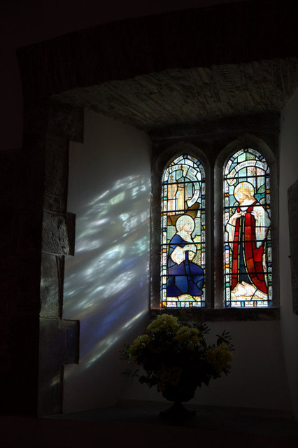 Stained Glass Window, St Cewydd's Church, Aberedw, Powys