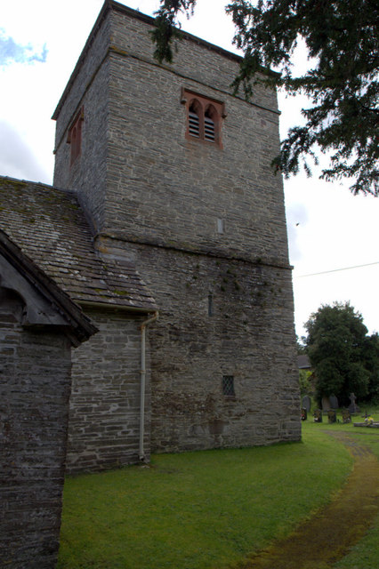Tower of St Cewydd's Church, Aberedw, Powys