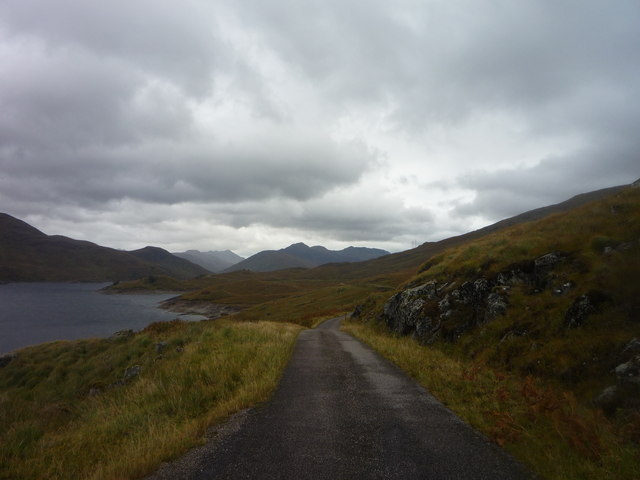 Single-track road on the north side of Loch Quoich