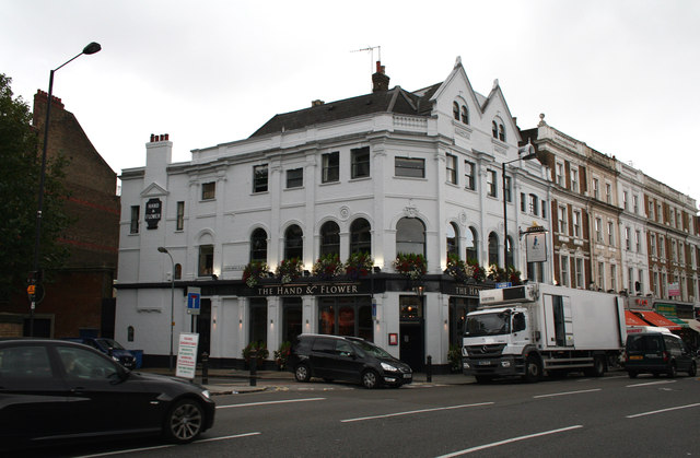 Kensington:  The 'Hand and Flower', Hammersmith Road
