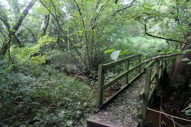 Marthall Brook and footbridge