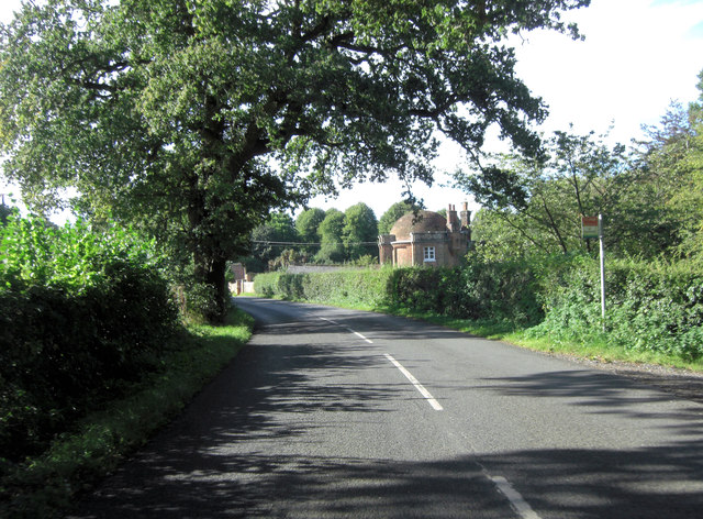 Vyne Road passes North Lodge