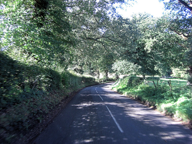 Vyne Road southwest of Vyne Farm