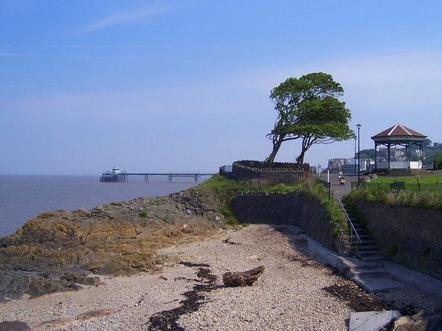 Clevedon seafront looking towards the pier