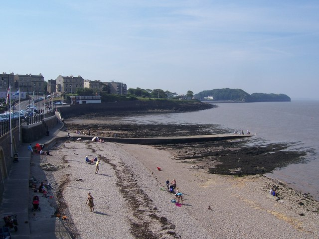 On the beach in Clevedon