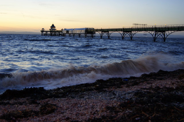 Clevedon Pier in the evening