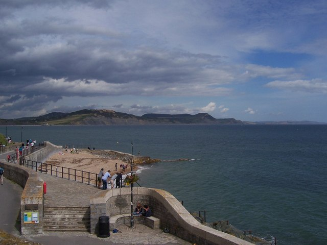 Lyme Regis looking towards Golden Cap and Charmouth