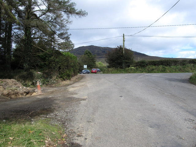 The Beletra Road at its junction with the road leading to the Windy Gap
