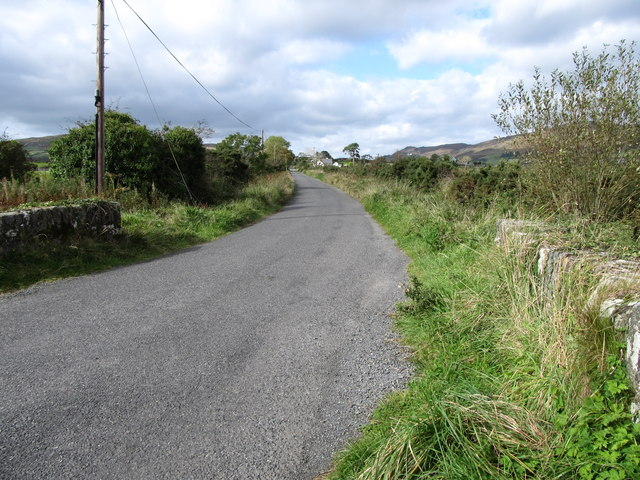 The road north of the junction at Ballygoley