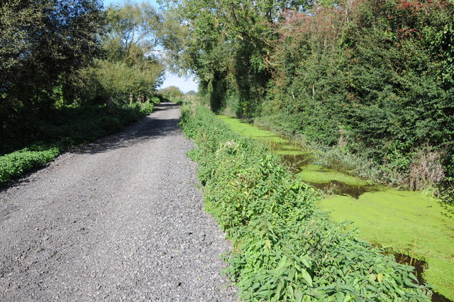 Rough road and drainage channel