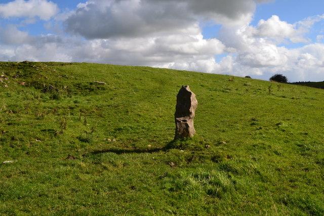 Standing stone near former lime kiln