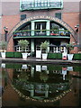 SP0686 : Canal side scene, Brindleyplace by Andrew Hill