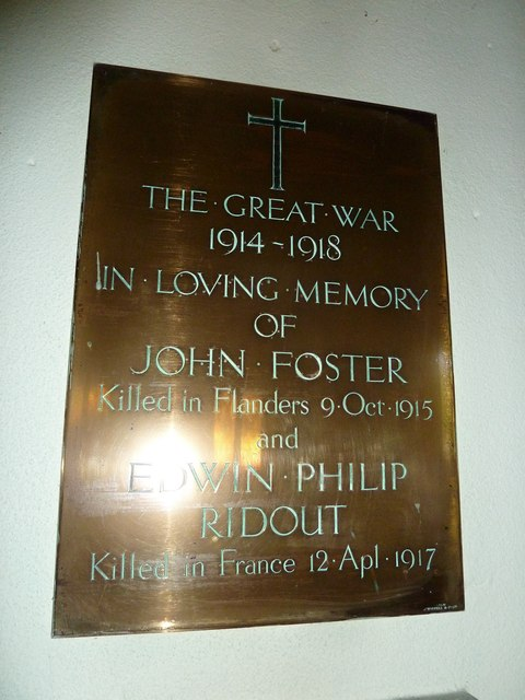St Mary, Winterborne Zelston: World War One Memorial
