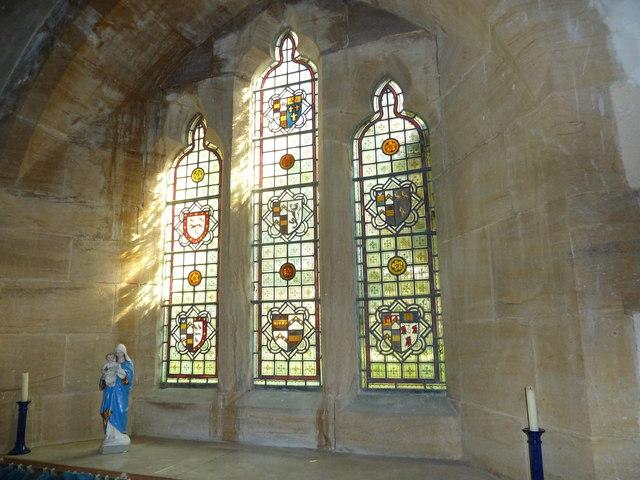 St Nicholas, Winterborne Kingston: stained glass window  (c)