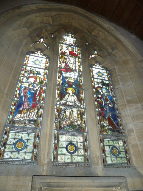 St Nicholas, Winterborne Kingston: stained glass window  (d)