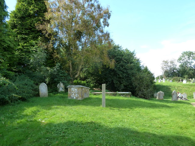 St Mary, St Cuthberga and All Saints, Witchampton- churchyard (a)