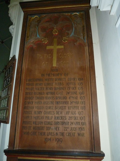 St Mary, St Cuthberga and All Saints, Witchampton- Great War Memorial