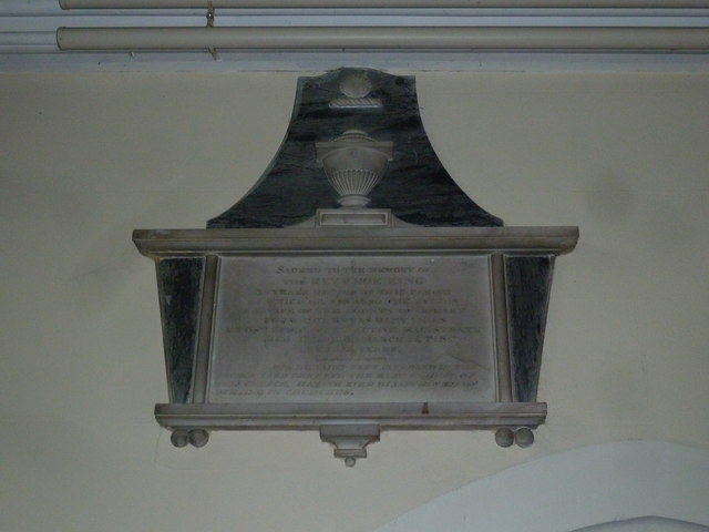 St Mary, St Cuthberga and All Saints, Witchampton- memorial (2)