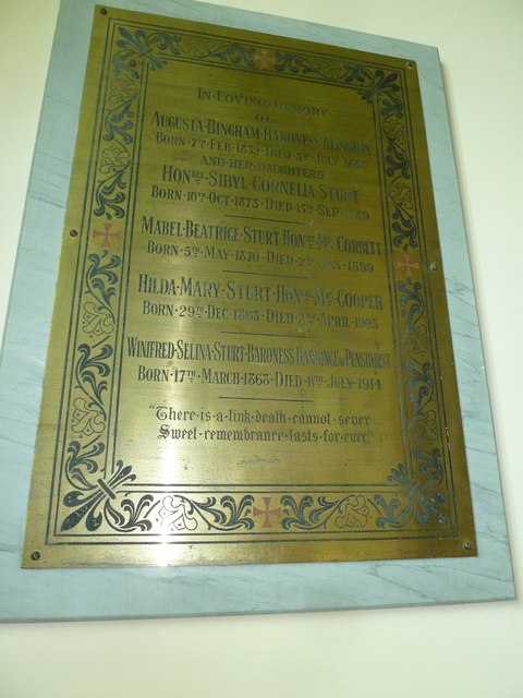 St Mary, St Cuthberga and All Saints, Witchampton- memorial (11)